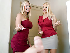 The 2 blond Cougars determine to rock Rachels stepsons world, screwing him in a supah stellar jizz exchanging threesome. This boys life will never be the same after this sensuous encounter!